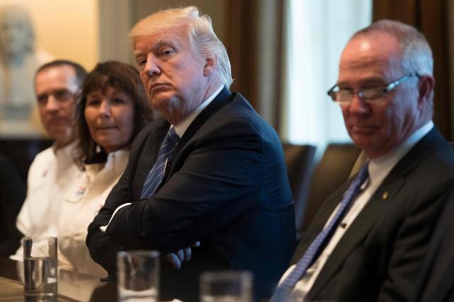 Le message du président américain s'assimile à un... (PHOTO JIM WATSON, AFP)