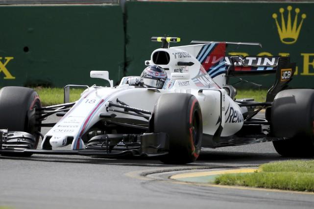 Lance Stroll au volant de sa Williams lors... (AP, Rick Rycroft)