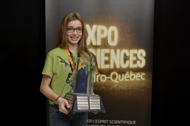 Félicia Harvey remporte le prix Hydro-Québec, remis au... (Photo cour, Steve Ferlatte)