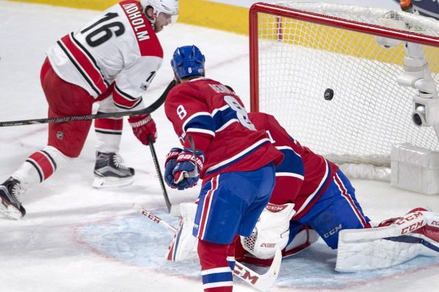 Elias Lindholm a déjoué Carey Price en fin... (La Presse canadienne, Ryan Remiorz)