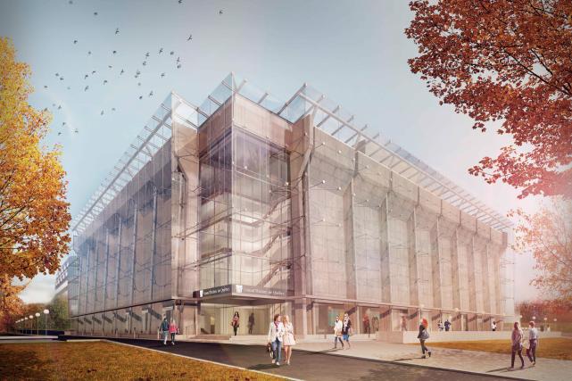 Le Grand Théâtre de Québec sera recouvert d'une... (Image fournie par le Grand Théâtre)