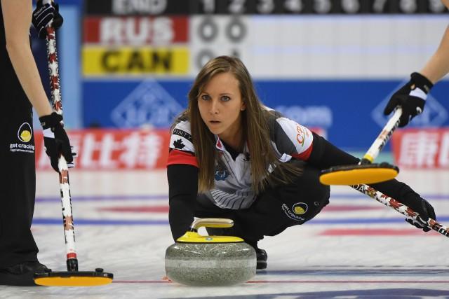 La skip de l'équipe canadienne, Rachel Homan.... (Greg Baker, AFP)