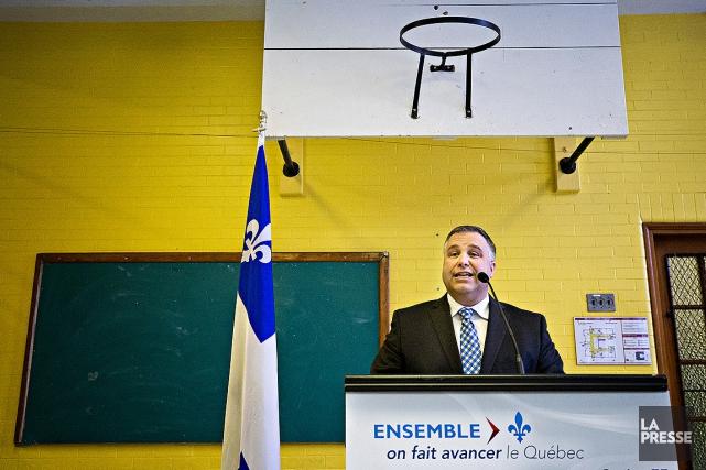 Sébastien Proulx, ministre de l'Éducation, en a fait... (Patrick Sanfaçon, La Presse)