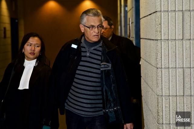 Gilles Deguire au palais de justice de Montréal,... (PHOTO ANDRÉ PICHETTE, LA PRESSE)