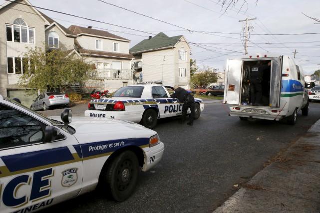 Le 27 octobre, les policiers de Gatineau ont... (Patrick Woodbury, archives Le Droit)