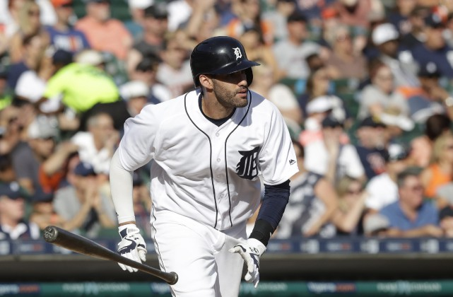 J.D. Martinez a subi une entorse le week-end dernier.... (Photo archives ASSOCIATED PRESS)