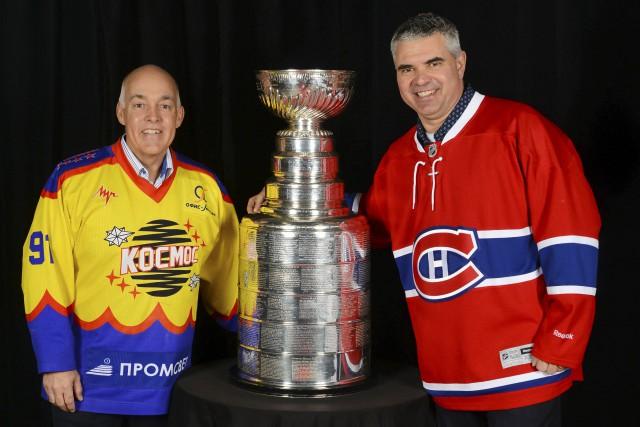 Pierre St-Jacques (à gauche) et son grand ami... (Daniel Jalbert)
