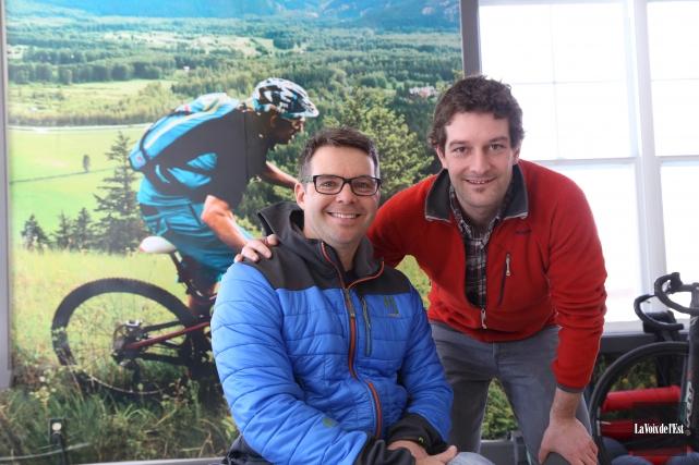 Jean-Thomas Boily, président d'Endurance Aventure et Nicolas Legault,... (Janick Marois, La Voix de l'Est)
