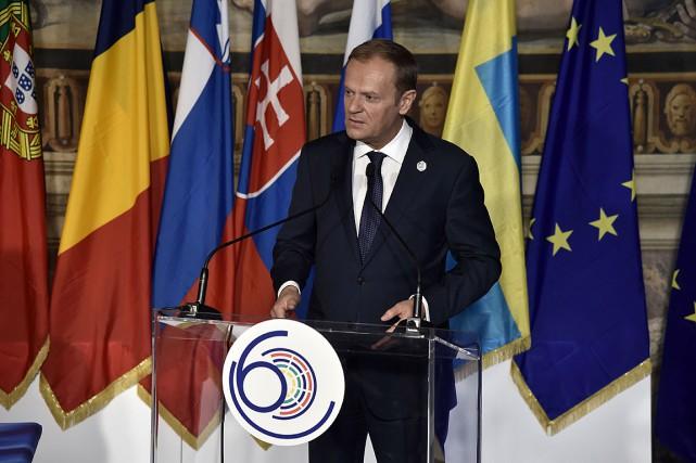 Le président du Conseil européen, Donald Tusk, a... (PHOTO TIZIANA FABI, AGENCE FRANCE-PRESSE)