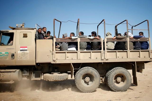 «Le nombre de déplacés venus des zones situées... (Photo Suhaib Salem, REUTERS)