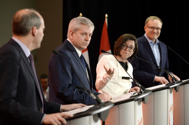 Les quatre candidats officiels avaient déjà pris part... (Photo Justin Tang, archives La Presse canadienne)