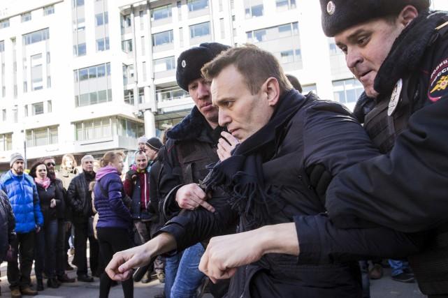 Les manifestations se sont déroulées à l'instigation d'Alexei... (AP, Evgeny Feldman)