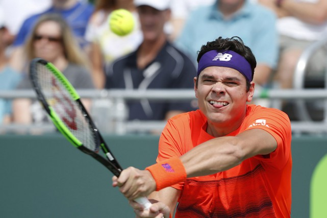 Milos Raonic... (Photo Wilfredo Lee, ASSOCIATED PRESS)