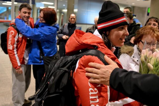 Julien Cardinal-Moffet et Stéphanie Savard sont rentrés à... (Le Soleil, Erick Labbé)