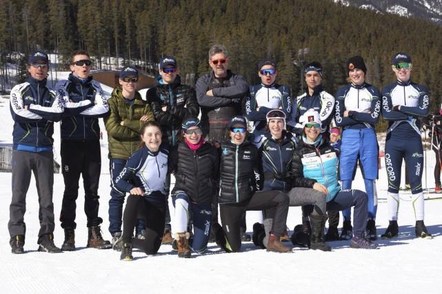 Les représentants du Club de ski de fond... (Tirée de Facebook)