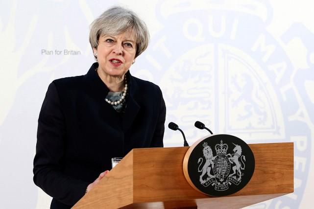 La première ministre britannique Theresa May a prononcé... (Photo Jane Barlow, AP/PA)