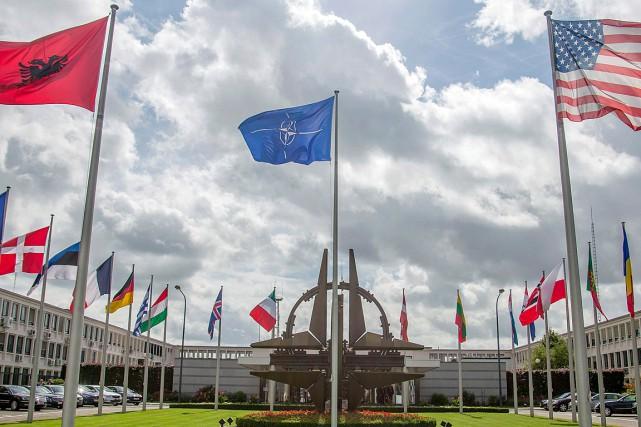 Le quartier général de l'OTAN, àBruxelles... (PHOTO OLIVIER MATTHYS, ARCHIVES ASSOCIATED PRESS)