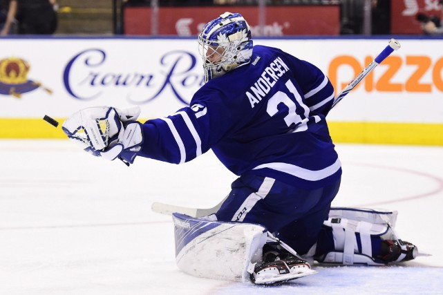 Frederik Andersen... (Photo Frank Gunn, PC)