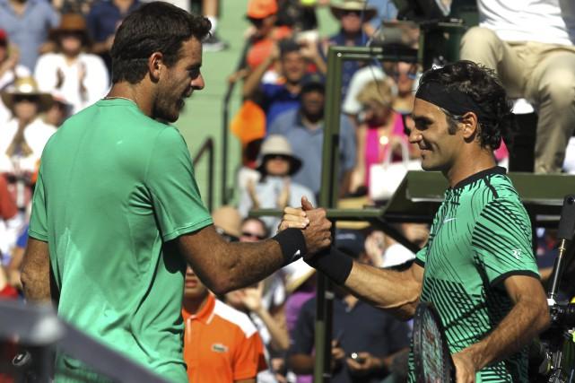 Roger Federer a eu le meilleur lundi sur... (PHOTO AP)
