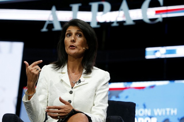 L'ambassadrice des États-Unis à l'ONU Nikki Haley a... (PHOTO REUTERS)