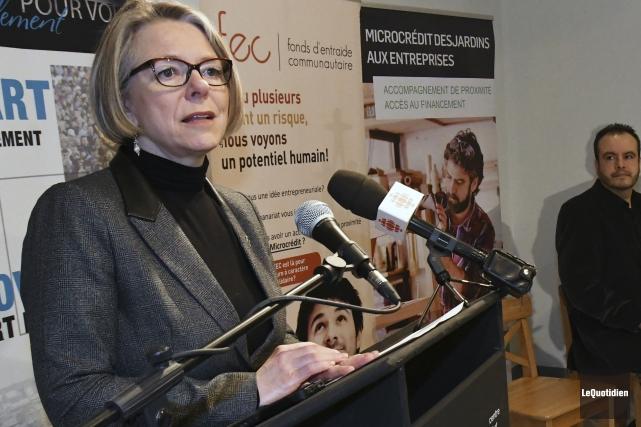 La députée de Chicoutimi, Mireille Jean... (Photo Le Quotidien, Michel Tremblay)