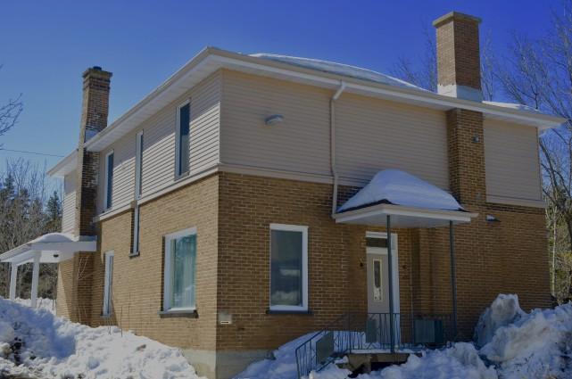 Cette maison, située sur le terrain de l'hôpital... (Collaboration spéciale Johanne Fournier)