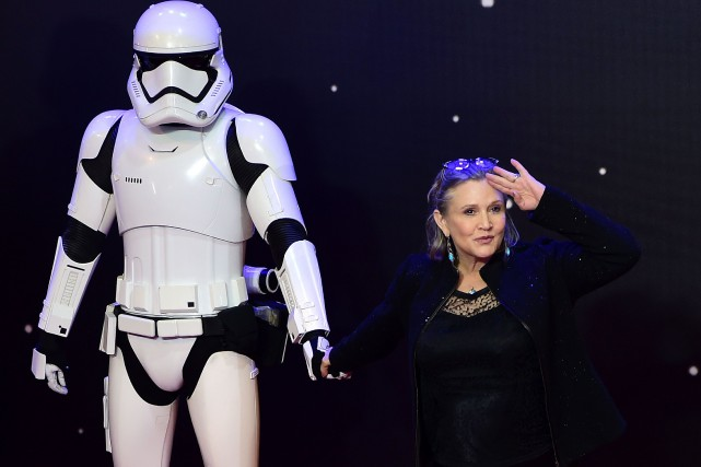Carrie Fisher... (Photo Leon Neal, archives Agence France-Presse)