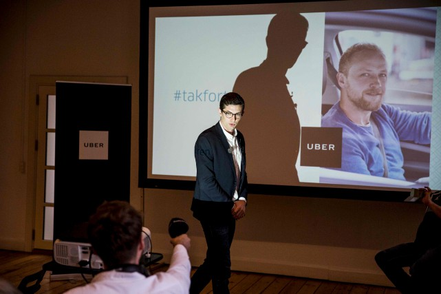 Le porte-parole de Uber Danemark, Kristian Agerbo, a... (AFP, Nikolai Linares)