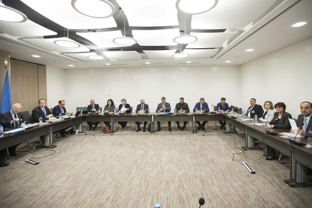 Mohamed Sabra, un des principaux responsables du Haut... (Photo Xu Jinquan, AP)