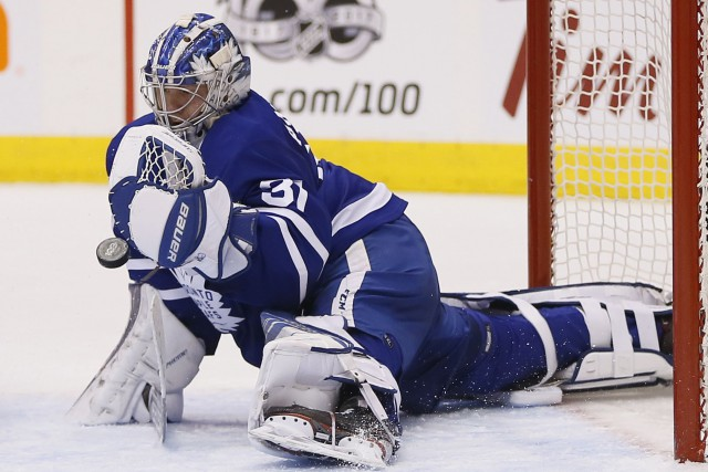 Frederik Andersen... (Photo John E. Sokolowski, USA Today Sports)