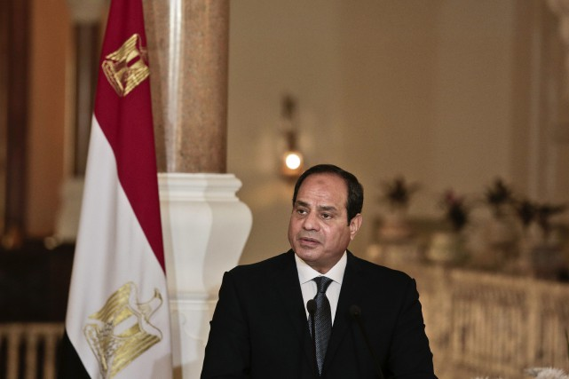 Le président égyptien Abdel Fattah al-Sissi.... (Photo Nariman El-Mofty, archives AP)