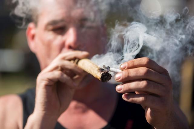La légalisation de la marijuana promise par les... (AFP, Chris Roussakis)