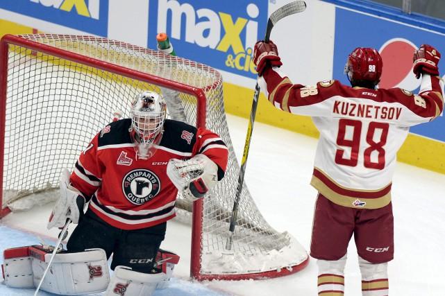 L'attaquant Vladimir Kuznetsov a marqué deux buts, mardi,... (Le Soleil, Erick Labbé)
