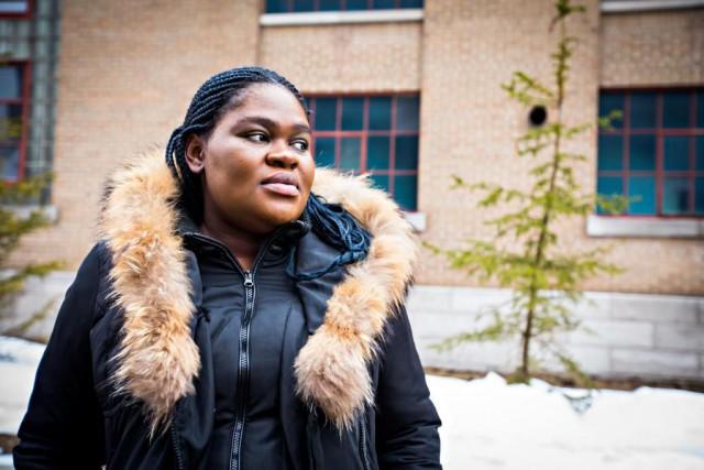 KemgangDomche, 28ans, est enceinte de 33semaines. «On avait... (PHOTO OLIVIER JEAN, LA PRESSE)
