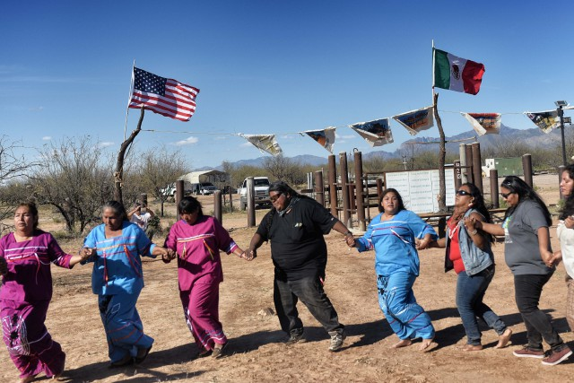 Les Tohono O'odham sont environ 3000, reconnus comme... (AFP)