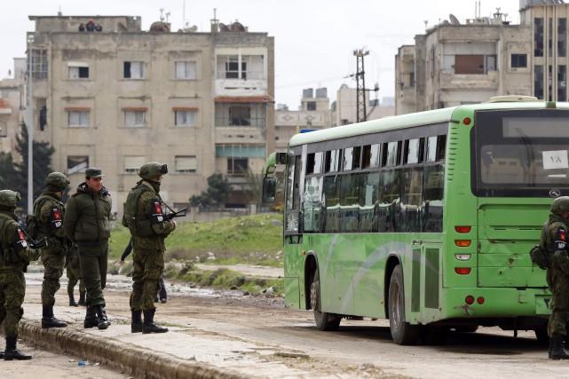 En février, Homs, la troisième ville Syrie, avait... (AFP)