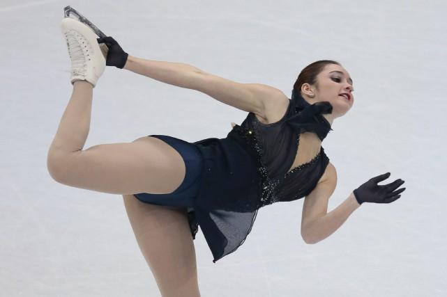 La Canadienne Kaetlyn Osmondoccupe la deuxième placeaprès le... (Photo Ivan Sekretarev, AP)