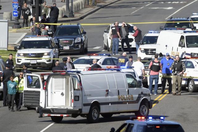 «Pendant l'arrestation de la suspecte, des coups de... (Photo AP)