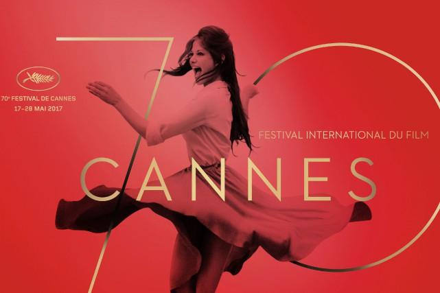 Saluée pour son esthétisme, l'affiche du 70e Festival de Cannes avec Claudia... (Photo Agence France-Presse)
