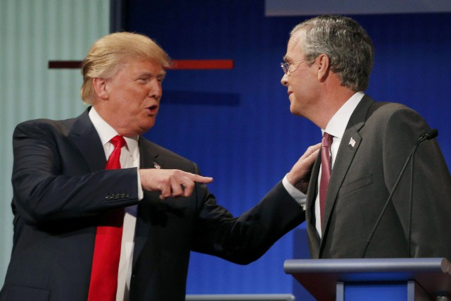 Donald Trump et Jeb Bush... (Photo Brian Snyder, archives Reuters)