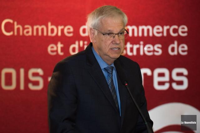 Le recteur de l'UQTR, Daniel McMahon, a dressé... (François Gervais Le Nouvelliste)