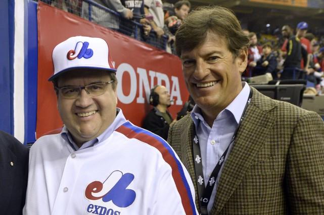 Le maire de Montréal, Denis Coderre, et Stephen... (Archives, La Presse)