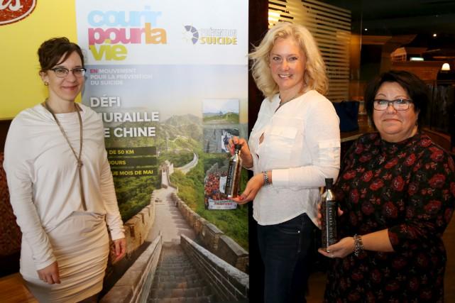 L'auteure et interprète Judith Bérard (centre), porte-parole des... (Photo Janick Marois)