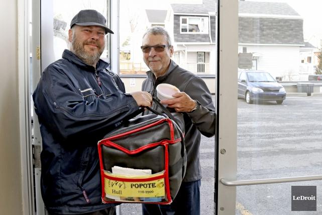 Gilles Tremblay et Martin Aubé, de la Popote... (Patrick Woodbury, Le Droit)