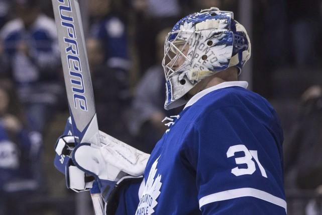 Le gardien des Leafs, Frederik Andersen... (Archives, La Presse canadienne)