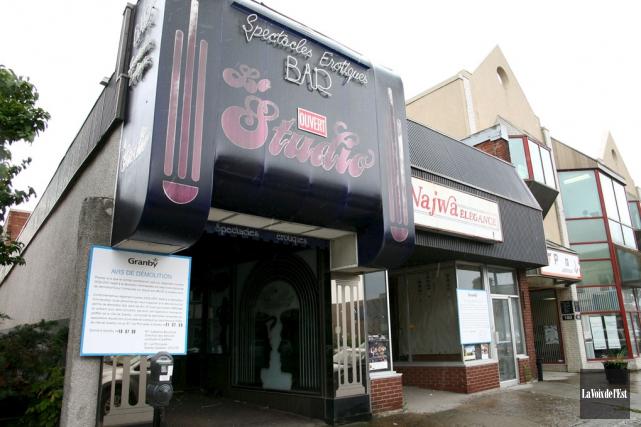 Le bar de danseuses nues Le Studio, qui... (archives La Voix de l'Est)