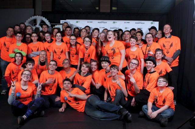 L'équipe FENIX 4947 de l'école secondaire Massey-Vanier a... (fournie)