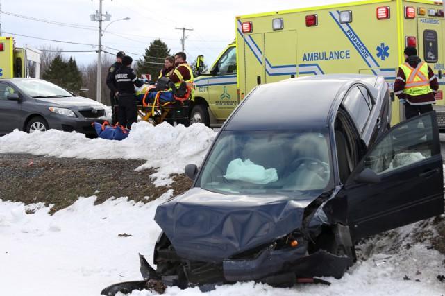 L'homme et la femmeimpliqués dans une violente collision,... (Christophe Boisseau-Dion)