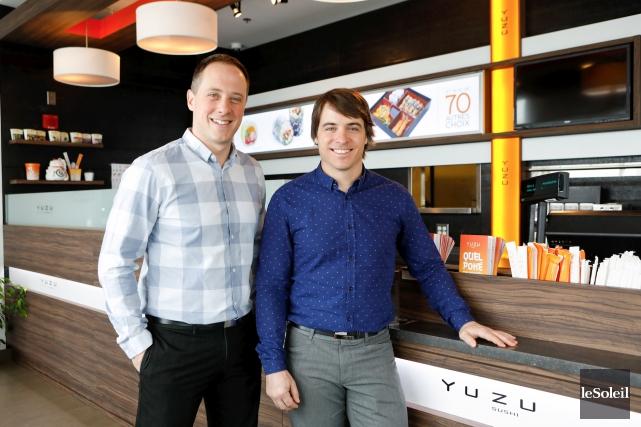Les deux fondateurs du Groupe Yuzu, Frédéric Matte... (Le Soleil, Caroline Grégoire)