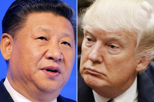 Xi Jinping et Donald Trump.... (Photos archives Associated Press)
